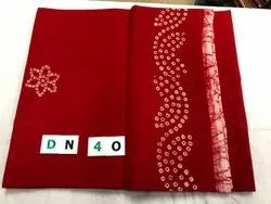 Printed 10 Color Chart Sungudi Sarees, Without Blouse, 5.5 m