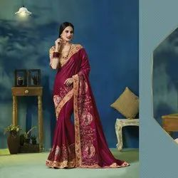 Stylish Georgette Work Saree