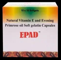 Natural Vitamin E 400mg , Evening Primrose Oil 10mg (Epad Softgels Capsule)