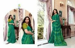 Formal Wear Vinay sarees, Length: 6 m (with blouse piece)