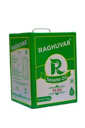 Natural Raghuvar Brand Sesame Oil - 15 Kgs, Packaging Type: TIN