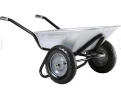 Double Tyre M.S Construction Trolley