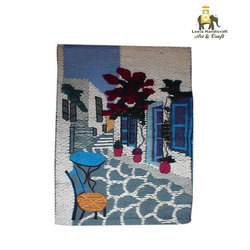 Jute Cloth Patchwork Wall Hanging