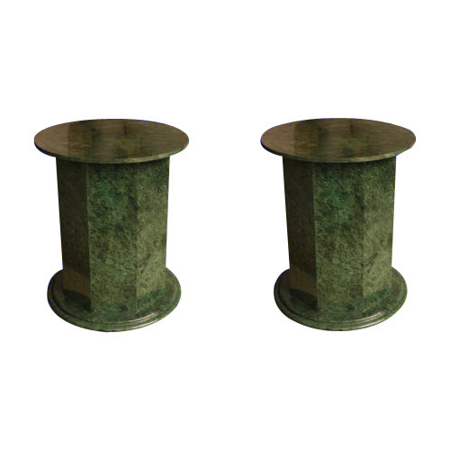 Green Marble Table Bases And Pedestal