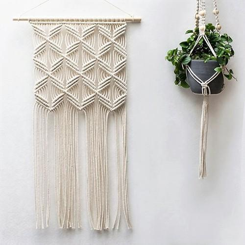 White Off Handmade Macrame Wall Hanging Rs 700 Piece