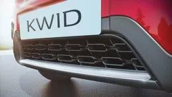 Black fiber KWID Rear Bumper, for In car