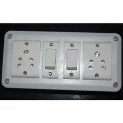 ESS 6A 2 Switch And 2 Socket Electrical Switch Board, ON/OFF, 240V