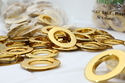 Flat Gold Eyelet Ring For Curtain