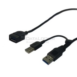 USB 3.0 Y Cable Extender