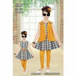 Round Sleeveless Separate Sleeve Midi Dress With Legging