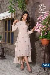 Womaya Cotton Flex Embroidered Kurti