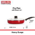1.3L Fry Pan With Glass Lid