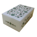 White Marble Gift Box With Inlay Work