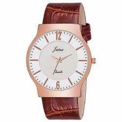 Jainx White Slim Dial Analog Watch - For Men JM355