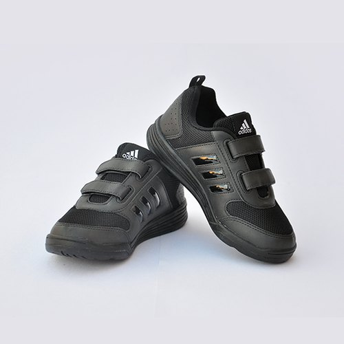 af9518688fcd25 Black Rubber Adidas Velcro School Shoes