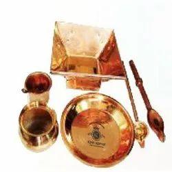 Golden KK-1104 Copper Pooja Kit
