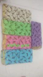 Pure Chiffon Print Sarees
