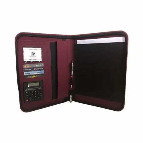 Zipper Rexine Executive Document Folder, For Office, Packaging Type: Packet