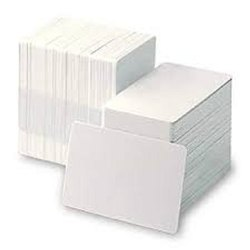 White Blank PVC Plastic Card CR 80, Size: CRAT 30 MIL