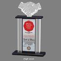 Hand Shake Acrylic Trophy