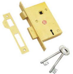 Mortise Lock 4/6 Lever Brass L-ML-004