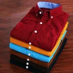 Collar Neck Plain High quality Mens Casual Shirts