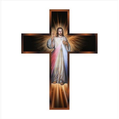 PVC Jesus Christ Cross Decorative Wall Art, Size: 500 X 380 Mm, Rs ...