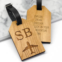 Wooden Luggage Tags