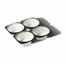 White 4 Cup Paper Muffin Pan