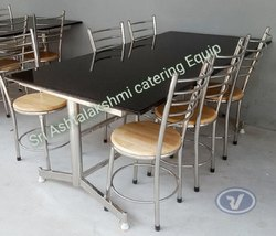 Glass 6 Seated Dining Table With Top Granite