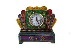 Rawsome shack Wooden Multicolor Clock With Drawer