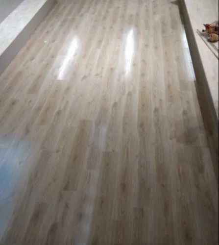 Beige Laminate wooden flooring