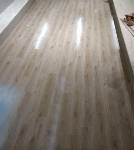 Beige Wooden Laminate Flooring