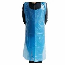 Blue PE Disposable Apron, For Safety & Protection