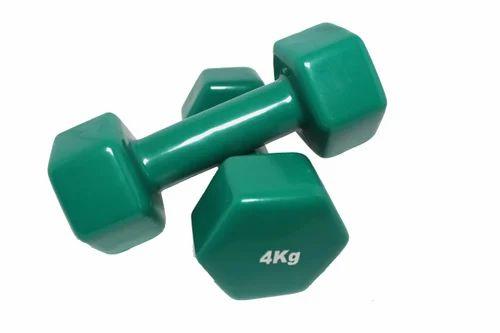 4 kg skfz vinyl dumbbell gym dumbbells sai kripa fitness zone