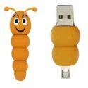 OTG PVC Pendrive Caterpillar Shape