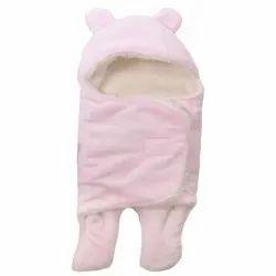 Little Cubs Light Pink Baby Blanket Cum Sleeping Bag