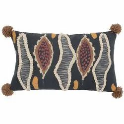 Decorative Pillow , Embroidered Cotton Throw Bed Pillow Cover Manufacturer