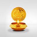 Bronze Mantra Gold Plated Gajalakshmi Lamp