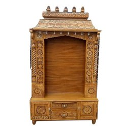 Traditional Designer Wooden Temple, For Worship