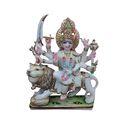 Colored Marble Maa Durga Statue
