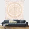Gold Floral Mandala Tapestry Wall Hangings