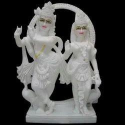Marble Radha Krishna Statue (Jugal Jodi)