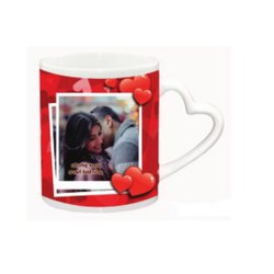 Outer Heart Handle White Mug