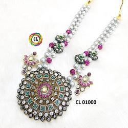 Victorian Tumble Taiwan Shell Pearl Statement Necklaces