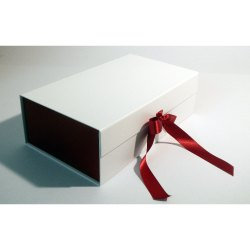 White And Red Hamper Gift Box