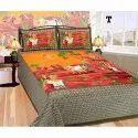 Pure Cotton Village Design Bedsheet