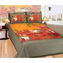 Pure Cotton Village Design Bedsheet