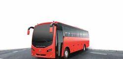 Red Ashok Leyland 12M FE Diesel Intercity Bus
