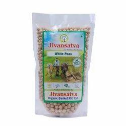 Jivansatva Organic White Dried Peas, Packaging Size: 500 G
